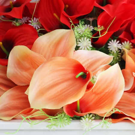 The beautiful decoration artificial flower photo