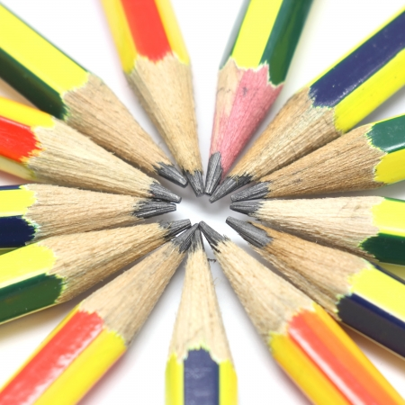 Pencil isolated on white background Stock Photo