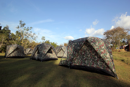 Tents at a camp site  photo