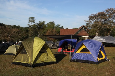 camping tents at a camp site  photo