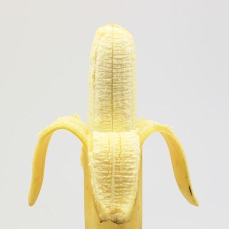 peeled banana: peeled banana on isolated  Stock Photo