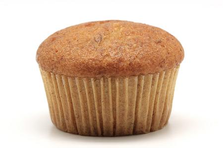 banana cupcake isolated on white background