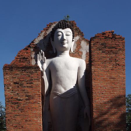 buddha image: old buddha image in thai temple