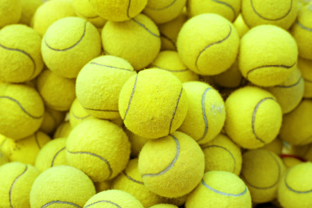 tennis net: exotic yellow tennis ball as sport background
