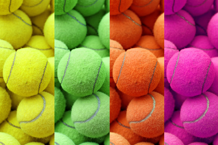 individual sport: exotic color tennis ball as sport background
