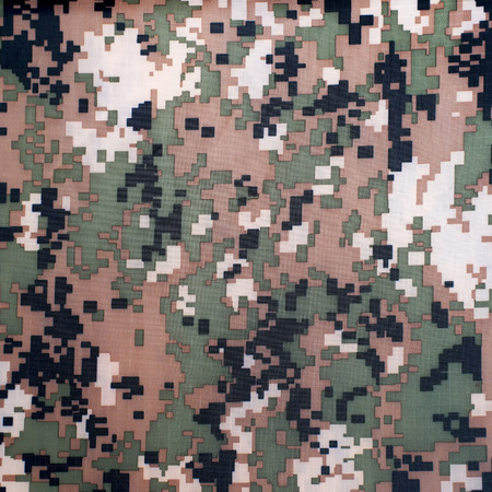 commando: exotic digital camouflage as background or pattern Stock Photo