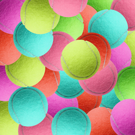 individual sport: exotic color tennis ball  as sport background Stock Photo