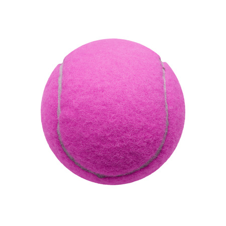 individual sport: exotic purple color tennis ball  isolated on white background