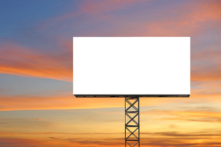 blank billboard: blank billboard for advertisement with beautiful twilight background
