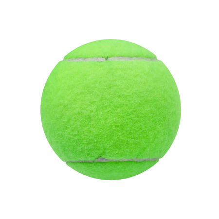 individual sport: exotic green color tennis ball  isolated on white background