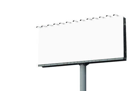 billboard blank: blank billboard for advertisement isolated on white background
