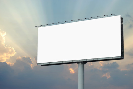 blank billboard for advertisement with beautiful sunbeam background