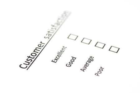 Customer Satisfaction Survey Blank Form Stock Photo Picture And
