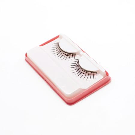 fake eyelashes: false lashes isolated on white background Stock Photo