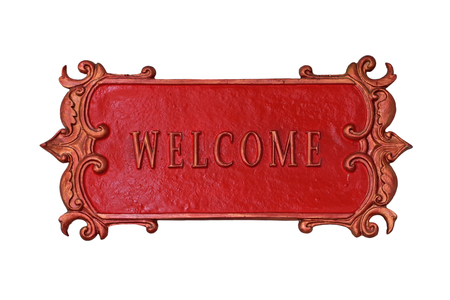 welcome symbol: welcome sign isolated on white background