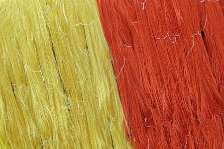 silk thread: silk production process, colorful raw silk thread