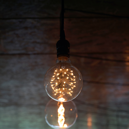 Decorative antique tungsten light bulbs hanging on ceiling stock decorative antique tungsten light bulbs hanging on ceiling stock photo 58138877 aloadofball Image collections