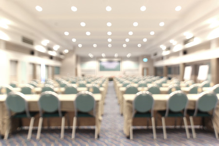 blurred picture, empty meeting room as background Stock Photo