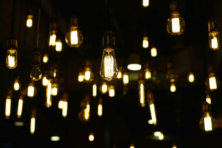 pile of decorative antique tungsten light bulbs