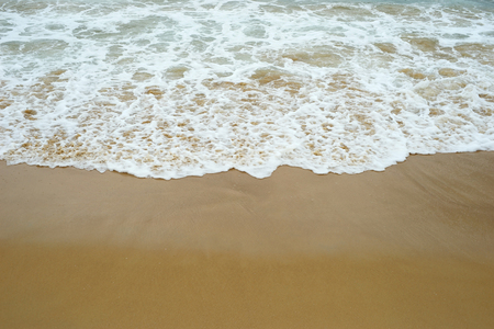 summer concept background, ocean beach with wave and sand