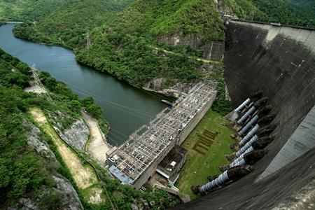 the power station on bhumibol dam in thailand