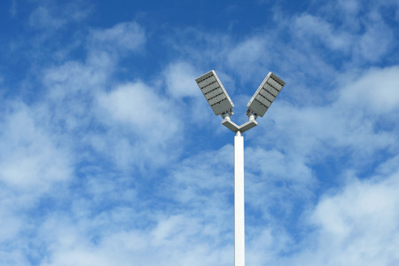LED light post with beautiful sky background