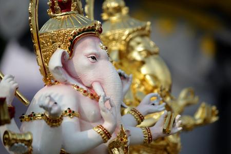 god of success, close up ganesh hindu god face made
