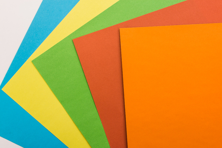 origami paper: colored sheets of paper