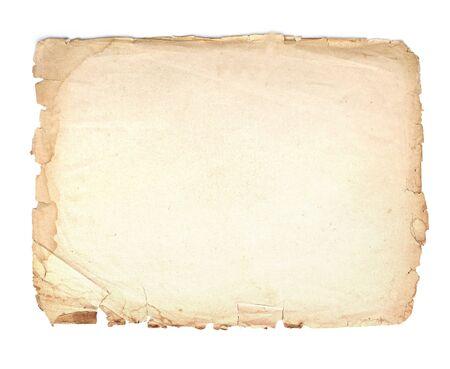 Alt, Vintage Papierhintergrund isoliert auf weiss.