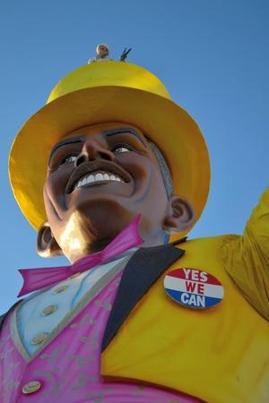 A funny float of Barack Obama with bin Laden in his hat at Viareggio Carnival 2011 Stock Photo - 26558700