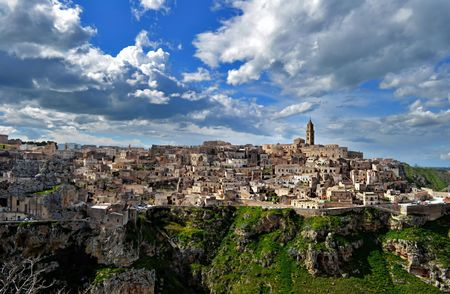 gained: Matera  Southern Italy  has gained international fame for its ancient town, the Sassi di Matera  meaning stones of Matera