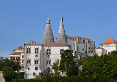 The beautiful castle in Sintra, Portugal  Nobody who went there will forget its big chimneys