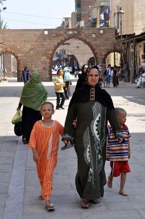 Aswan - SEPTEMBER 21 SEPTEMBER 2010: the Peace life of Egyptians in streets of the city of Aswan. Egypt  SEPTEMBER 21 2010.