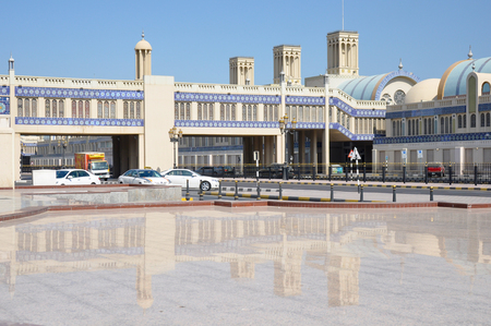 central market: SHARJAH, United Arab Emirates - MARCH 9,2012: Gold Central market of Sharjah in the UAE Editorial