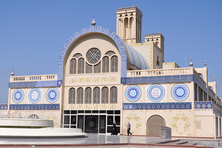 sharjah: SHARJAH, United Arab Emirates - MARCH 9,2012: Gold Central market of Sharjah in the UAE Editorial