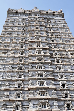 karnataka culture: MURUDESHWAR, INDIA - OCTOBER 29,2011: Hindu religion in the Church of the great Shiva