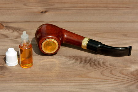 Electronic Smoking pipe with liquid refills Stock Photo
