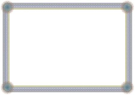 blank guilloche frame Vector
