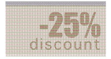 buono sconto: Buono Sconto -25% con la protezione guilloch� Vettoriali