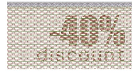 discount coupon -40% with the guilloche protection Stock Vector - 11835898