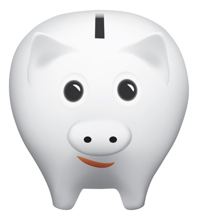 Piggy bank isolated on the white background Vector