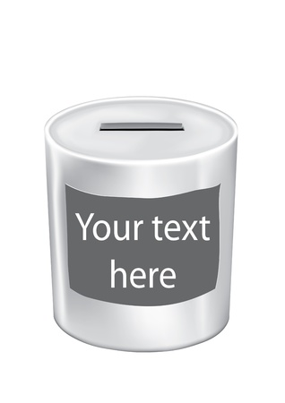 money box with your text isolated on white background