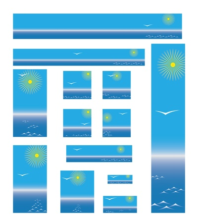 collection of web banners about sea travel  Stock Vector - 12003310