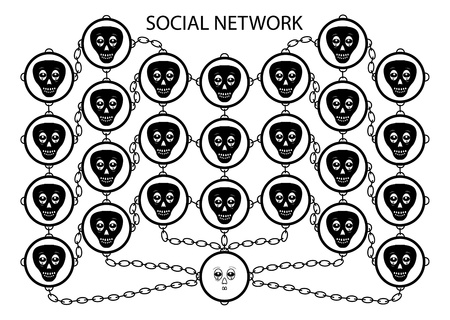 dependence: abstraction about social network dependence theme Illustration