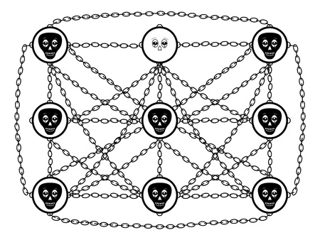 following: abstraction about social network dependence theme Illustration