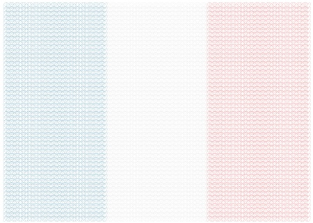 guilloche national flag of France isolated on white background Vector