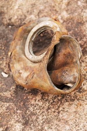 old damaged gas mask photo