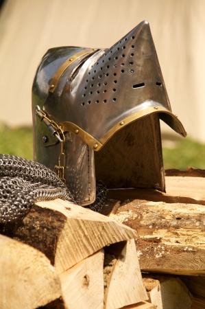 teutonic: elmo di ferro del cavaliere teutonico Archivio Fotografico