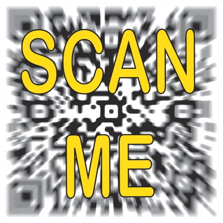 scanning qr-code abstraction Stock Vector - 15865199
