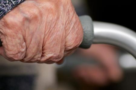 invalid hands on walking equipment